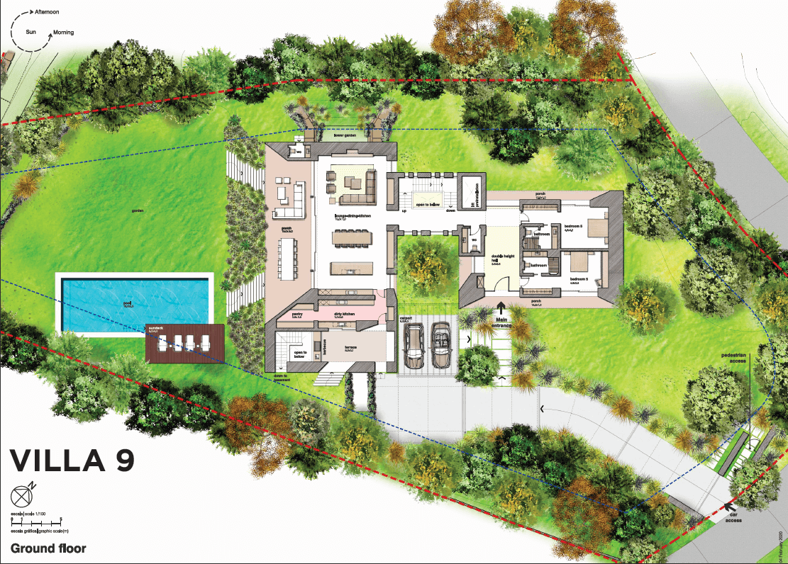 el bosque reserva alcuzcuz benahavis vamoz marbella costa del sol spanje nieuwbouw villa zeezicht te koop 9 grondplan