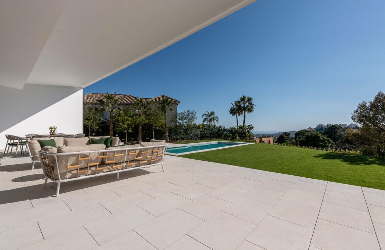el bosque reserva alcuzcuz benahavis vamoz marbella costa del sol spanje nieuwbouw villa zeezicht te koop 9 terras