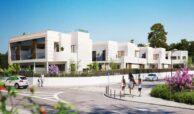 los miradores del sol cancelada estepona spanje vamoz marbella townhouse huis te koop wandelafstand zee nieuwbouw gevel