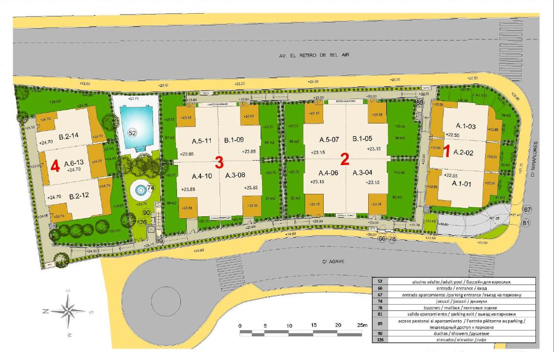 los miradores del sol cancelada estepona spanje vamoz marbella townhouse huis te koop wandelafstand zee nieuwbouw masterplan