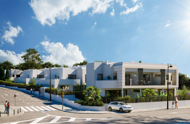 los miradores del sol cancelada estepona spanje vamoz marbella townhouse huis te koop wandelafstand zee nieuwbouw project