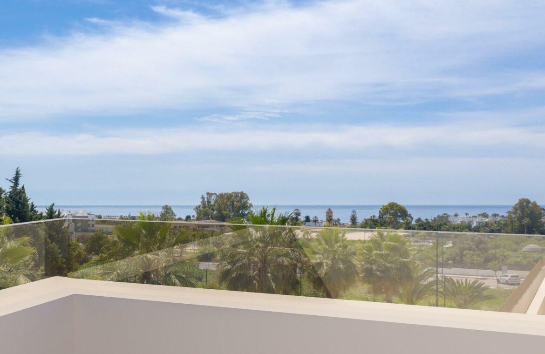 los miradores del sol cancelada estepona spanje vamoz marbella townhouse huis te koop wandelafstand zee nieuwbouw zeezicht
