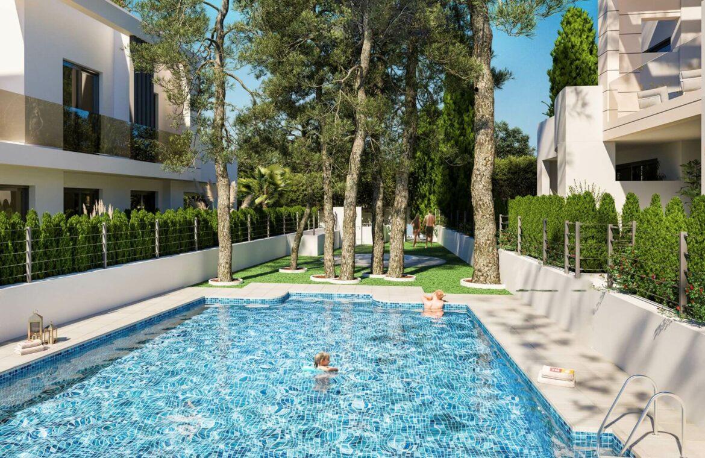 los miradores del sol cancelada estepona spanje vamoz marbella townhouse huis te koop wandelafstand zee nieuwbouw zwembad