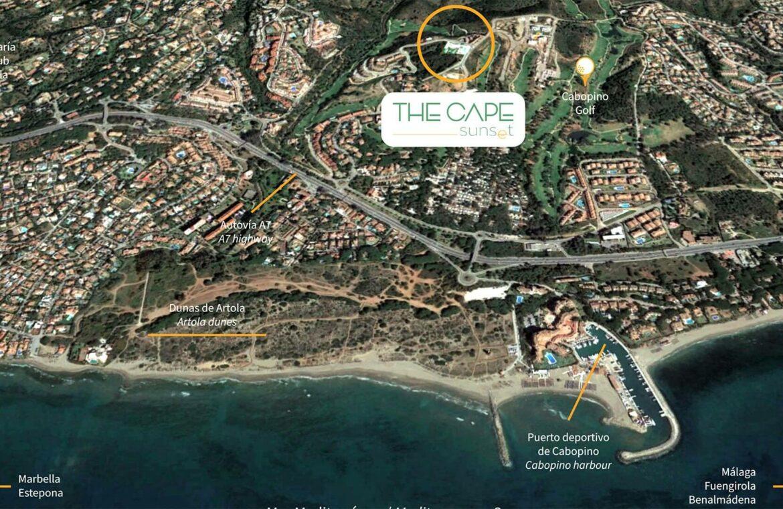 marbella sunset cabopino kleinschalig nieuwbouw appartementen te koop vamoz marbella costa del sol locatie