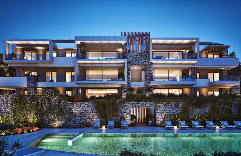 olivos real de la quinta benahavis costa del sol spanje vamoz marbella resort zeezicht blok 6 architectuur
