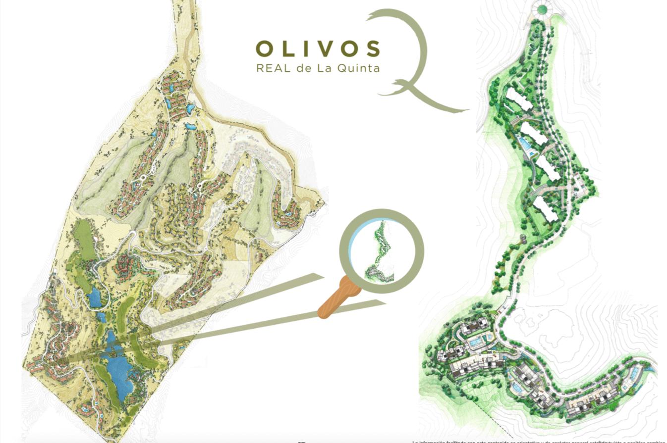 olivos real de la quinta benahavis costa del sol spanje vamoz marbella resort zeezicht blok 6 masterplan